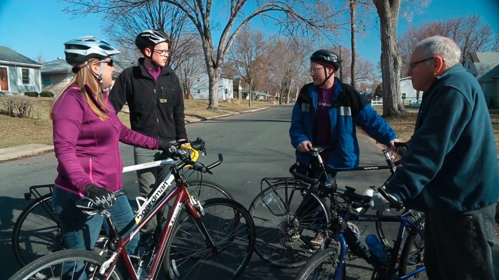 Bike Advocates discussing a ride