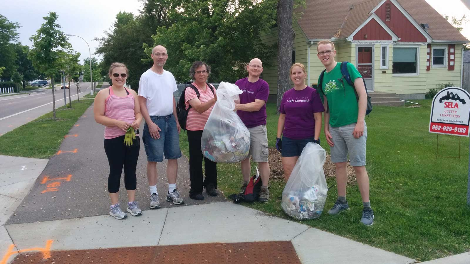Cleaning up the Nine Mile Creek Trail