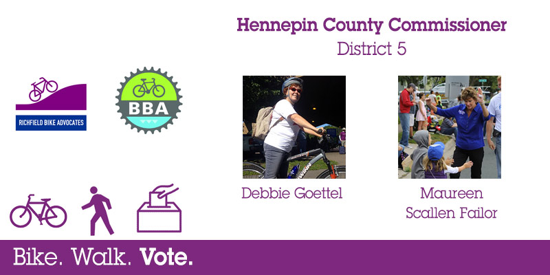 Bike Walk Vote: Debbie Goettel versus Maureen Scallen Failor